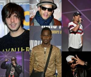 Joey Starr, Nekfeu, Maitre Gims, Black M, Orelsan, Booba... Les rappeurs rois des pseudonymes