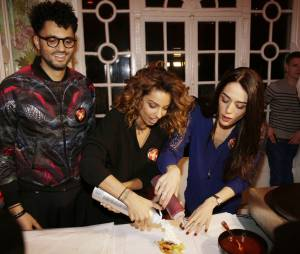 Tony saint Laurent, Tal et Sofia Essaïdi participent à la Street Food Party au profit de l'association Cé ke du bonheur le 11 mars 2016
