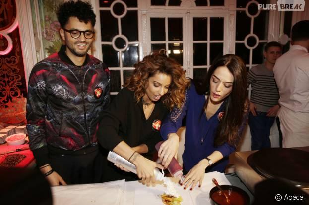 Tony saint Laurent, Tal et Sofia Essaïdi participent à la Street Food Party au profit de l'association Cé ke du bonheur le 11 mars 2016