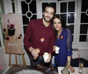 Tarek Boudali et Sofia Essaïdi participent à la Street Food Party au profit de l'association Cé ke du bonheur le 11 mars 2016