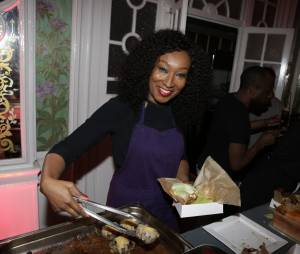 Nadège Beausson Diagne participe à la Street Food Party au profit de l'association Cé ke du bonheur le 11 mars 2016
