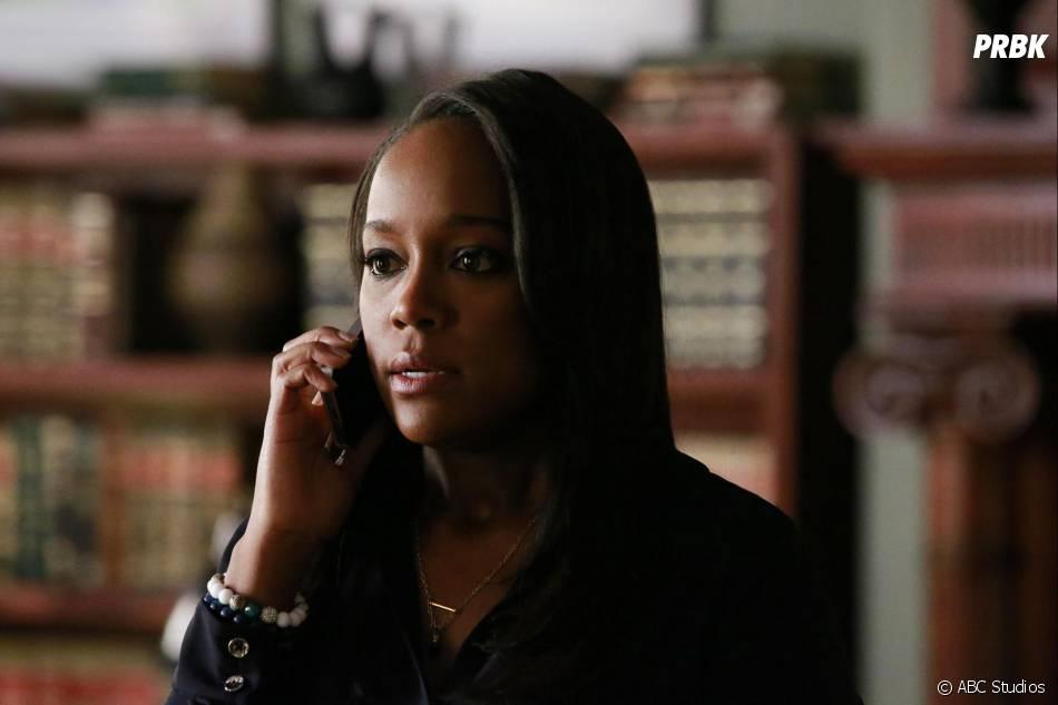How to Get Away with Murder saison 2, épisode 14 : Michaela (Aja Naomi King) sur une photo