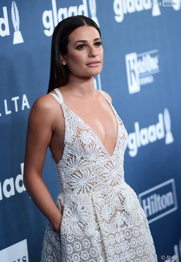 Lea Michele sur le tapis rouge des GLAAD Awards 2016 le 2 avril à Los Angeles
