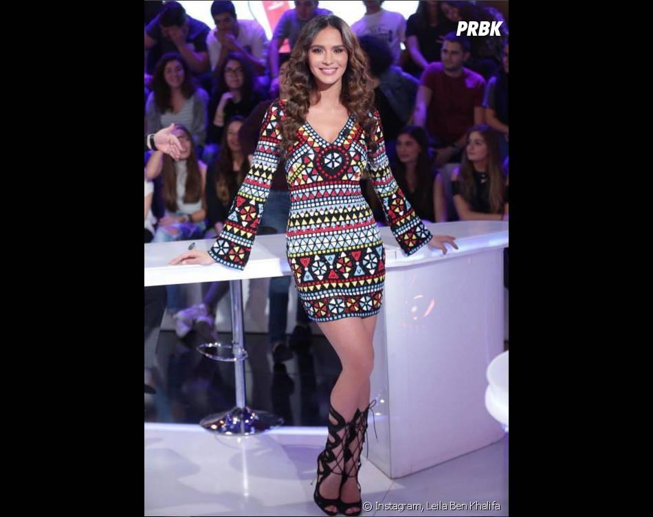 Leila Ben Khalifa sexy dans Menna W Jerr, le TPMP libanais le 14 avril 2016