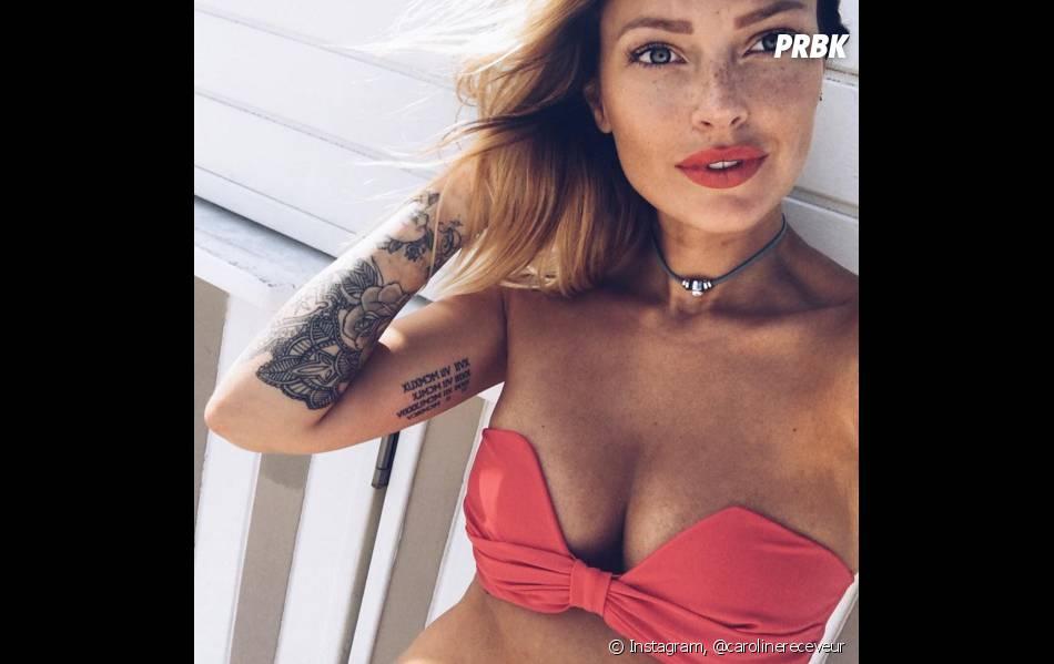 Caroline Receveur affiche ses tatouages sur Instagram
