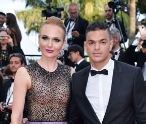 Hatem Ben Arfa et Angela Donova au Festival de Cannes le 16 mai 2016