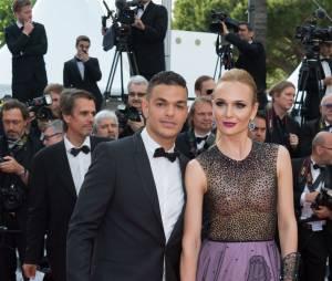 Hatem Ben Arfa et Angela Donova prennent la pose au Festival de Cannes le 16 mai 2016