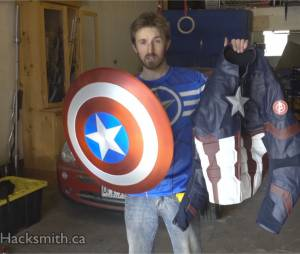 Captain America : The Hacksmith réalise son bouclier