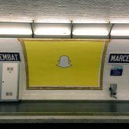 Snapchat envahit Paris : le fantôme jaune débarque dans le métro