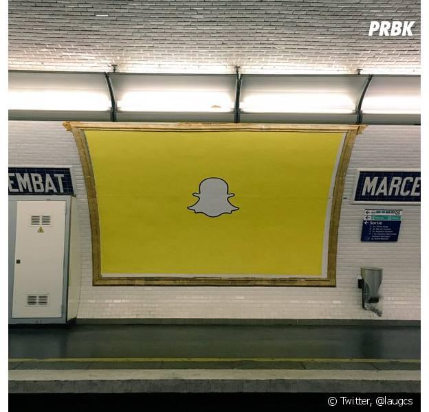 Les publicités Snapchat dans le métro parisien