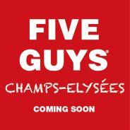 Five Guys : les Champs Elysées vont accueillir la chaîne de burgers