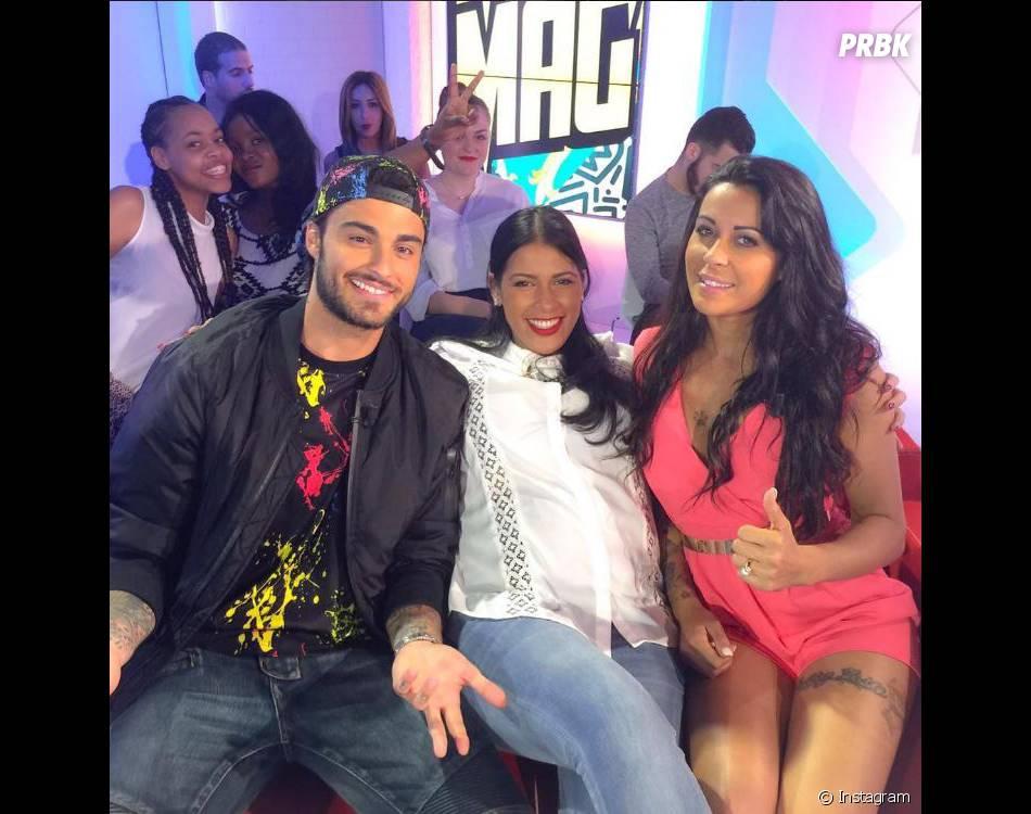 Shanna et Thibault sur le plateau du Mad Mag de NRJ 12 avec Ayem