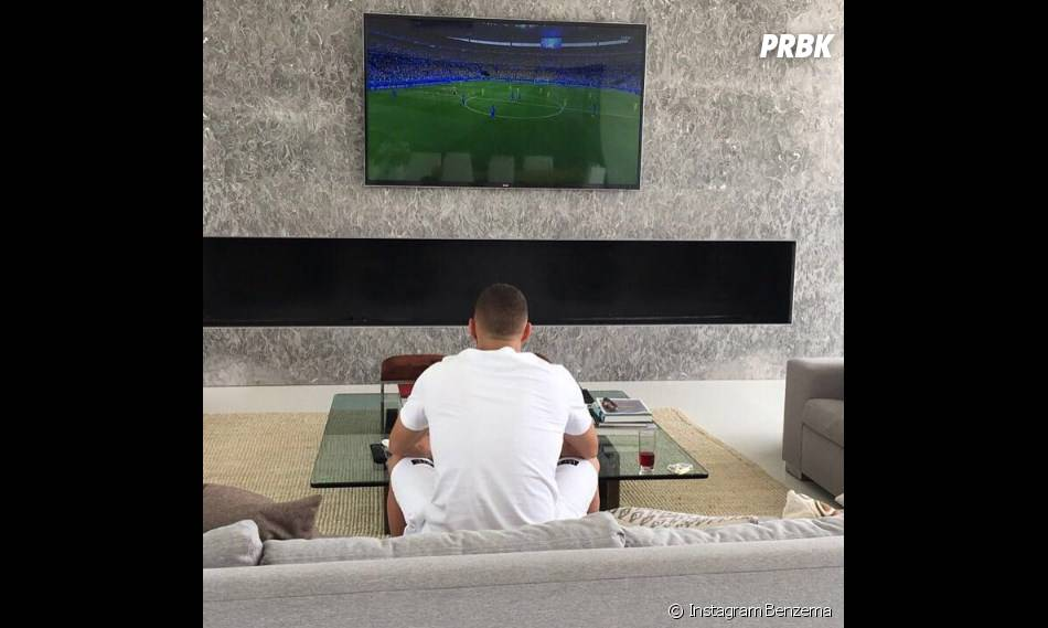 Karim Benzema supporte l'Equipe de France pour l'Euro 2016