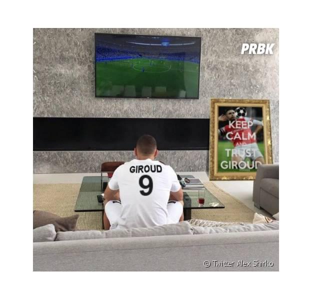 Karim Benzema parodié sur Twitter