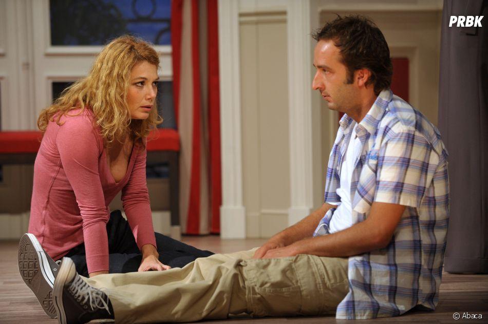 Cyrille Eldin, chroniqueur, animateur mais également acteur et comédien (ici, dans la pièce Les Hommes Preferent Mentir avecJuliette Meyniac le 2 septembre 2009)