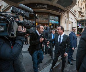 Cyrille Eldin interviewe François Hollande pour le Grand Journal de Canal +