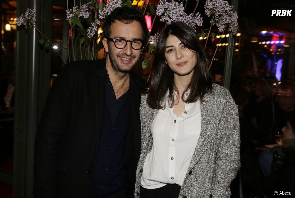 Cyrille Eldin en couple avecSandrine à La Closerie Des Lilas à Paris le 12 avril 2016