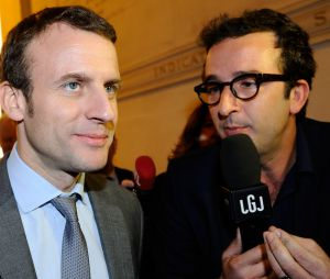 Cyrille Eldin et Emmanuel Macron