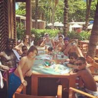 Ludivine Sagna en vacances à Miami avec Bacary Sagna et leurs deux fils ☀