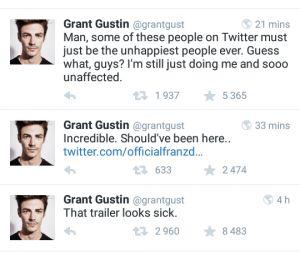 Grant Gustin (The Flash) raciste ? Son coup de gueule sur Twitter