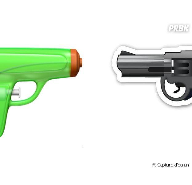 Apple : L'emoji revolver controversé bientôt remplacé... par un pistolet à eau !