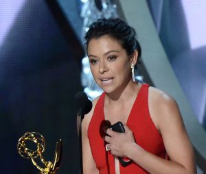 Tatiana Maslany gagnante aux Emmy Awards 2016 le 18 septembre à Los Angeles