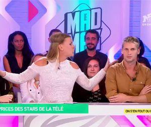 Amélie Neten balance sur les caprices de Benoît Dubois et Emilie Picch dans le Mad Mag le 6 octobre 2016 sur NRJ 12