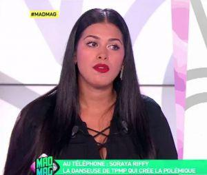 Ayem Nour a joint Soraya Riffy par téléphone lors du Mad Mag de NRJ12 le 17 octobre 2016