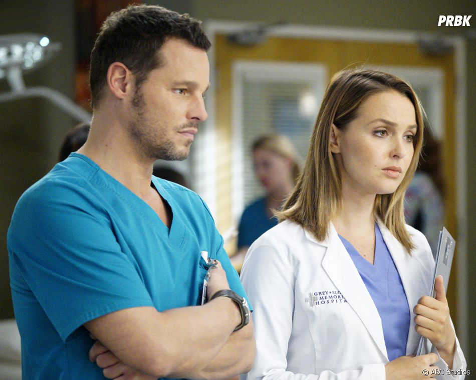 Grey's Anatomy saison 13, épisode 6 : Alex (Justin Chambers) et Jo (Camilla Luddington) sur une photo