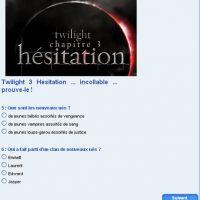 Twilight 3 Hésitation ... es-tu un vrai connaisseur ?