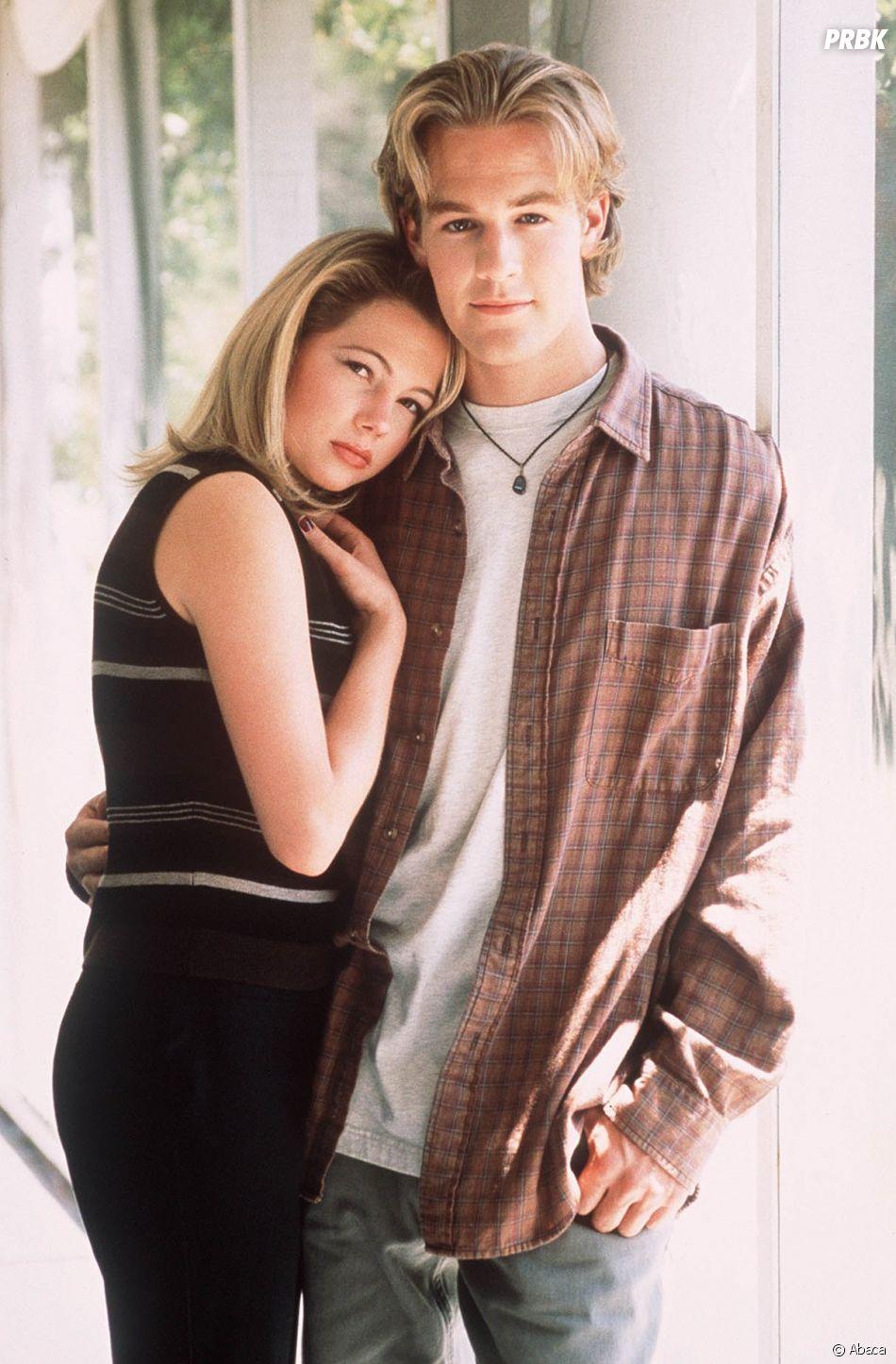 Michelle Williams et James Van Der Beek à l'époque de la série Dawson.