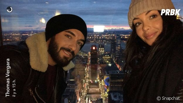 Nabilla Benattia et Thomas Vergara en amoureux à New York City.