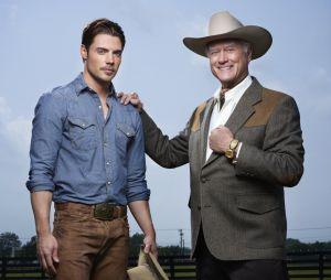 Josh Henderson et Larry Hagman dans Dallas