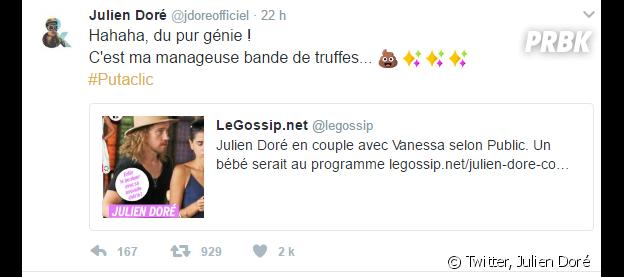 Julien Doré roi des punchlines sur twitter : best of de ses meilleures réponses aux trolls