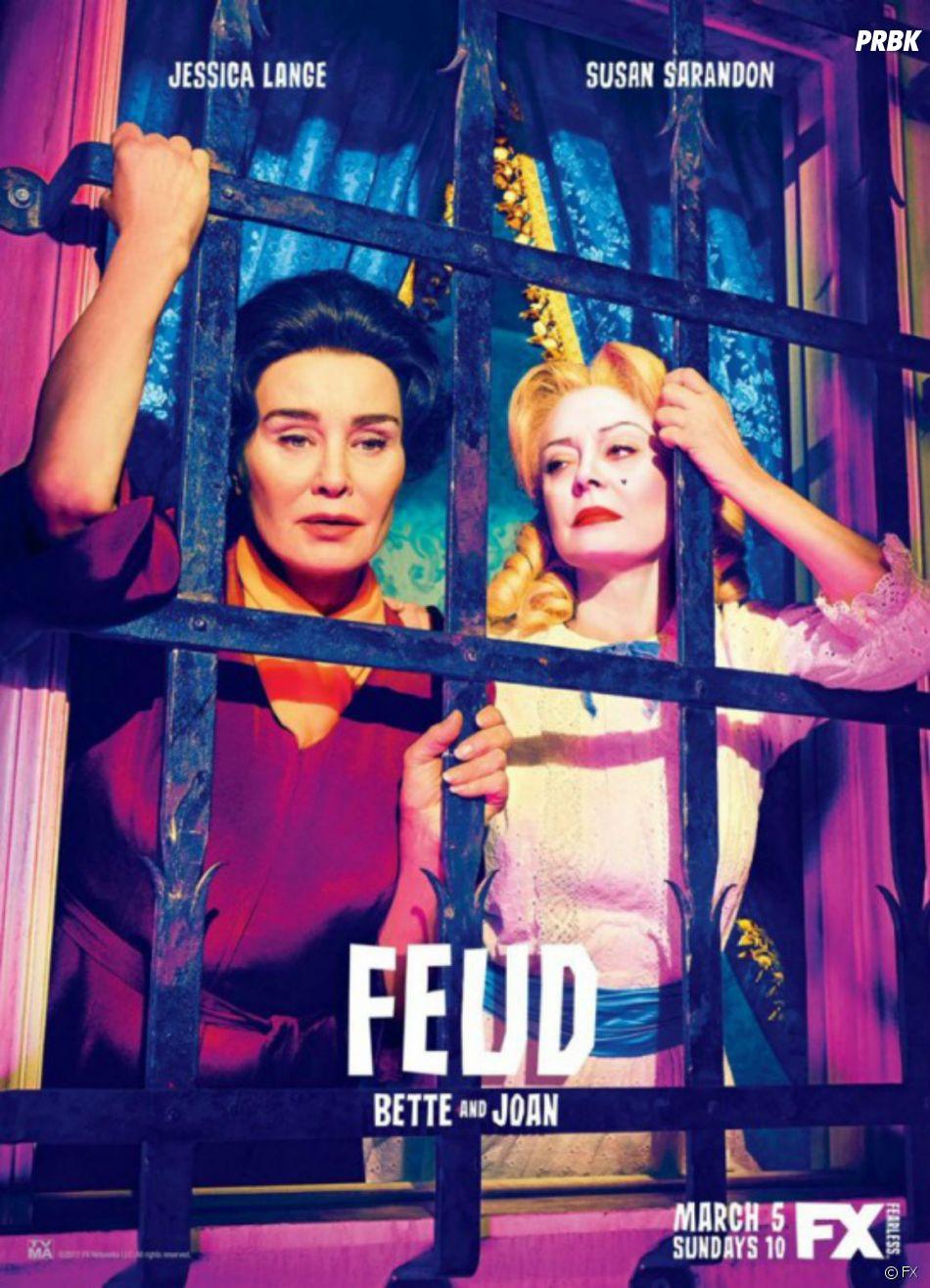 Feud saison 1 : l'affiche de la série de Ryan Murphy avec Jessica Lange et Susan Sarandon