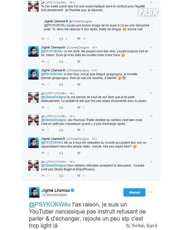 Jigmé prend la défense d'Emma CakeCup et se clashe violemment avec un hater