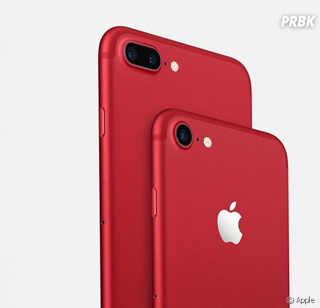 iphone 7 et 7 plus rouge apple mise sur le trendy contre. Black Bedroom Furniture Sets. Home Design Ideas