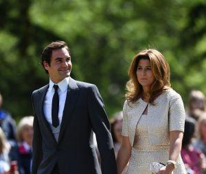 Roger Federrer et sa femme Mirka au mariage de Pippa Middleton