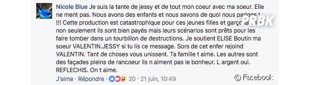 Jessy (Les Marseillais VS Le reste du monde) : sa tante pousse un coup de gueule