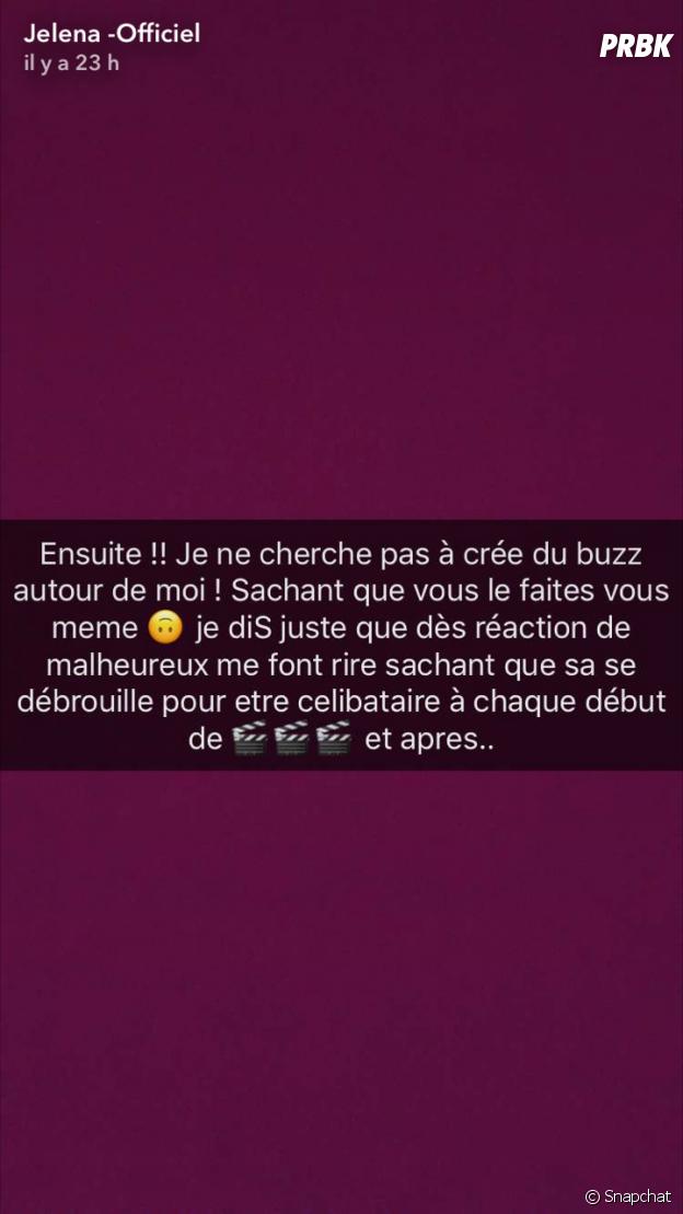 Jelena (Les Marseillais VS Le reste du monde) en colère sur Snapchat