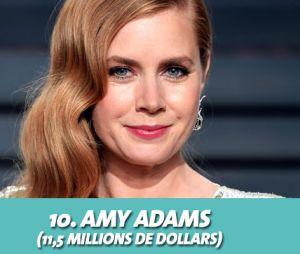 Amy Adams au classement des actrices les mieux payées d'Hollywood