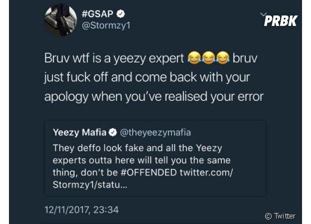 Stormzy accusé par Yeezy Mafia d'avoir des Yeezy Beluga 2.0 fakes aux MTV EMA 2017