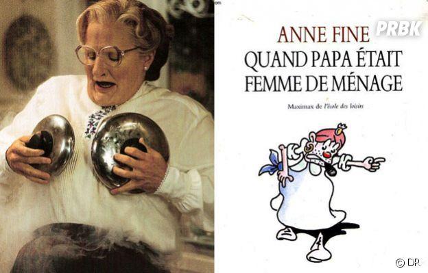 Madame Doubtfire est adapté d'un roman