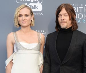 Norman Reedus et Diane Kruger en couple aux Critics Choice Awards 2018 le 11 janvier