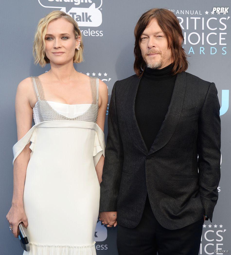 Norman Reedus et Diane Kruger en couple aux Critics Choice Awards 2018 le 11 janvier
