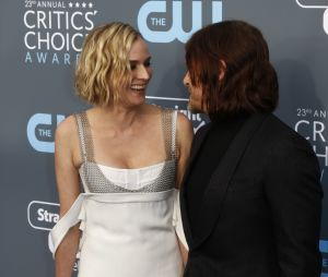 Norman Reedus et Diane Kruger complices aux Critics Choice Awards 2018 le 11 janvier