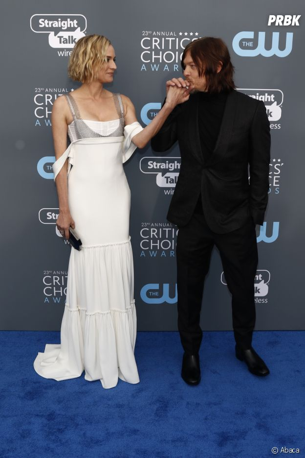 Norman Reedus et Diane Kruger aux Critics Choice Awards 2018 le 11 janvier