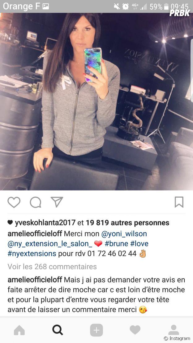 Amélie Neten critiquée sur son nouveau look, elle clashe les haters