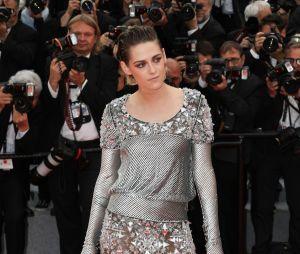 Kristen Stewart pose avant la projection de BlacKkKlansman à Cannes le 14 mai 2018