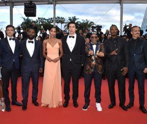 L'équipe de BlacKkKlansman à la projection du film à Cannes le 14 mai 2018